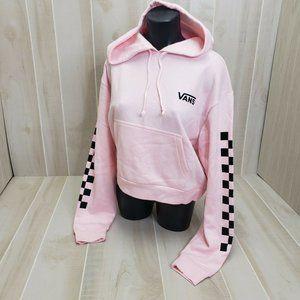 NEW Vans Womens Pink Bravo Crop Hoodie Medium